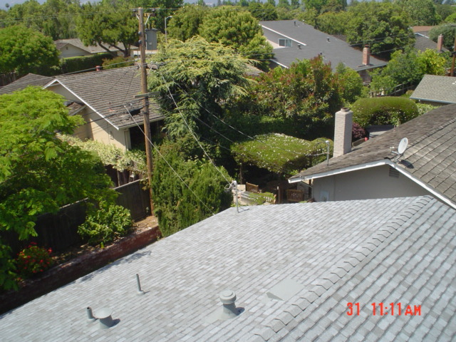 nice view from above, spray painted all flashing to blend in with roofing